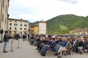 Inaugurazione piazza Matteotti Santa Sofia (Fc) 30 aprile 2018 Bonaccini