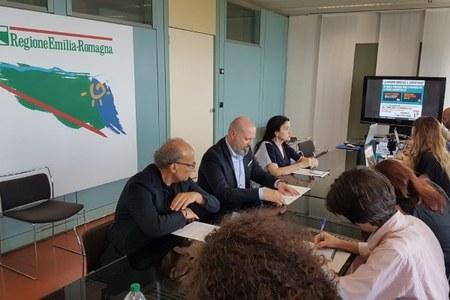 Conferenza stampa superticket 3 luglio 2018 Bonaccini Venturi