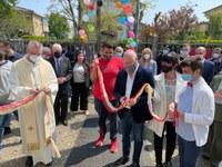 Inaugurazione Centro sociale San Giuseppe San Bonico Pc Bonaccini 23 aprile 2021