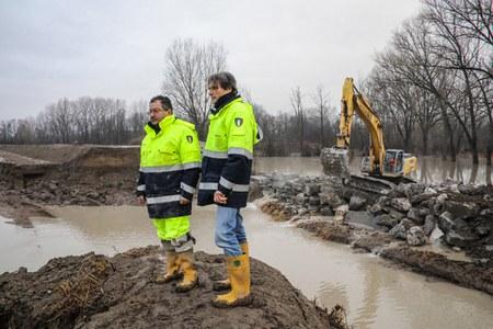 Esondazione fiume Reno località Boschetto Castel Maggiore (febbraio 2019)