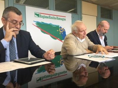 Conferenza stampa edilizia scolastica 15 novembre 2018 Bonaccini Bianchi