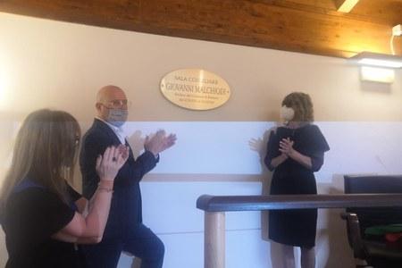 Intitolazione Sala consiliare a Giovanni Malchiodi Ferriere Piacenza 28 giugno 2020 foto 3