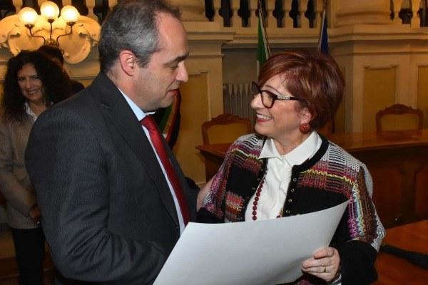 Manghi prefetto De Miro per cittadinanza onoraria Comune Reggio 2 febbraio 2019