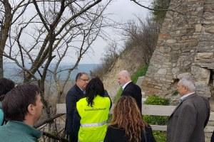 Sopralluogo Bonaccini frana Roncofreddo (Fc) 11/4/2018