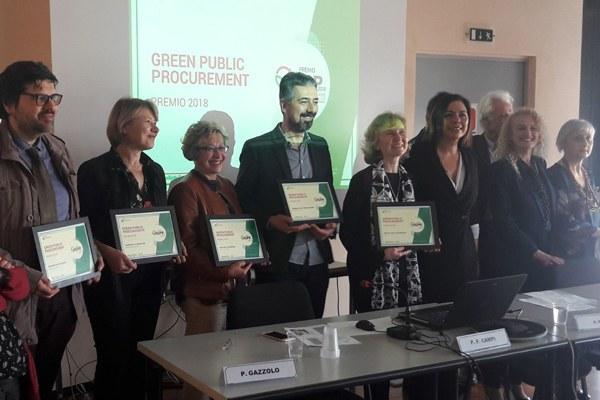 Premiazione acquisti verdi amministrazioni virtuose, assessore Gazzolo (aprile 2018)