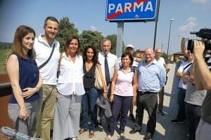 L'assessore Gazzolo lavori manuntenzione straordinaria fiume Enza (Parma)