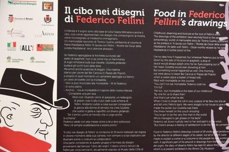 Settimana cucina canada_mostra Fellini pannello