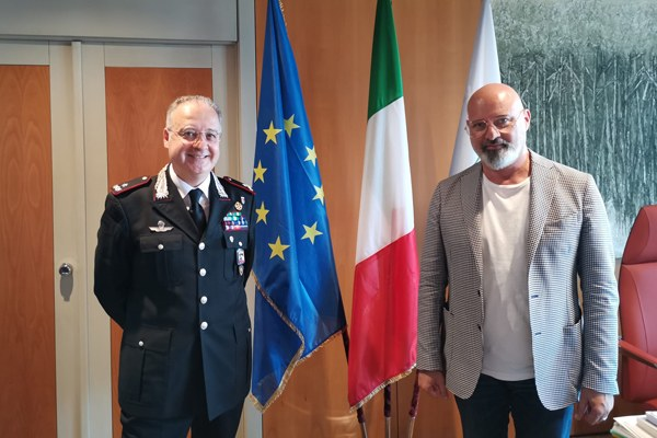 Incontro tra generale Angrisani e il presidente Bonaccini (luglio 2020)