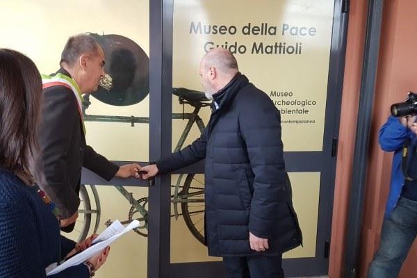 Inaugurazione Museo della Pace Crevalcore Bologna 4 novembre 2017 Bonaccini 3