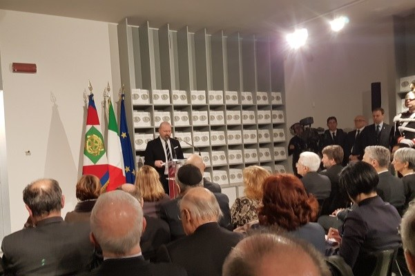 Inaugurazione museo ebraico Ferrara 13-12-17