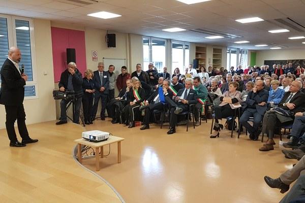 Inaugurazione Ospedale Correggio RE Bonaccini e Venturi (2 dicembre 2017) - presidente