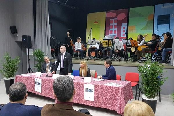 Inaugurazione scuola Meldola (FC 2 dicembre 2017) con Bonaccini