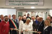 Bonaccini all'inaugurazione del Policlinico di Modena, febbraio 2019