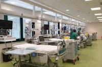 Inaugurazione hub terapia intensiva Maggiore (Bologna) 5 giugno 2020, Speranza, Bonaccini, Donini, posti letto