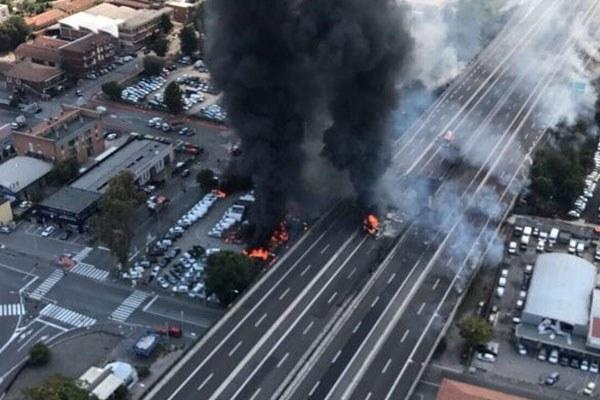 Incidente Borgo Panigale, realizzata dai Vigili del fuoco