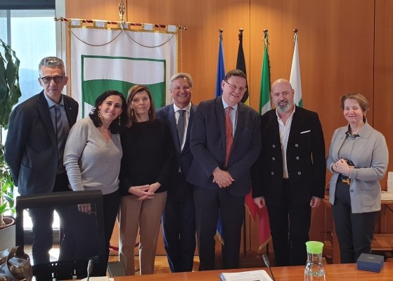 Bonaccini e delegazione ambasciatore Belgio
