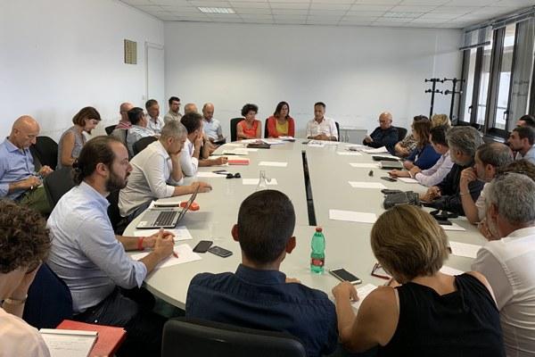 Tavolo tecnico Corsini Gazzolo Venturi sindaci costa (agosto 2019)