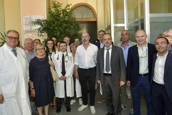 Bonaccini e personale visita ospedale Santa Maria Borgotaro Tour Appennino parmense (giugno 2019)