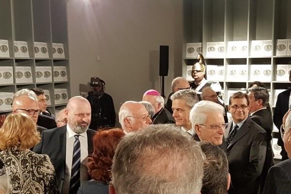 Inugurazione Museo ebraico Bonaccini Mattarella 13-12-17