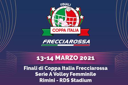 Logo finali Coppa Italia pallavolo marzo 2021