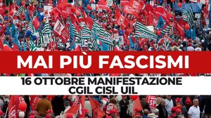 Mai più fascismi - manifestazione sindacati