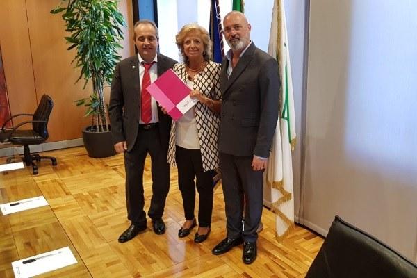 Incontro Bonaccini Faralli Race for the cure