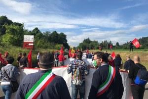 Manifestazione lavoratori Fiac Compressori - 5/06/2020