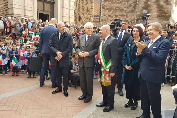 Bonaccini e Mattarella alla commemorazione del senatore Ruffilli