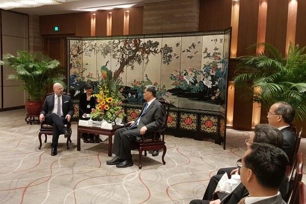 Missione Cina 20 novembre 2017 Incontro governatore