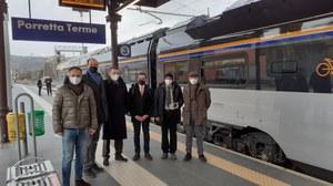 Nuovo treno Rock, arrivo a Porretta Terme con assessore Corsini