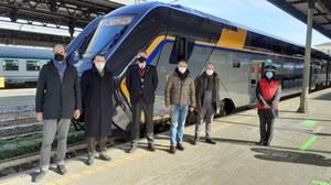 Nuovo treno Rock, partenza da Bologna con assessore Corsini