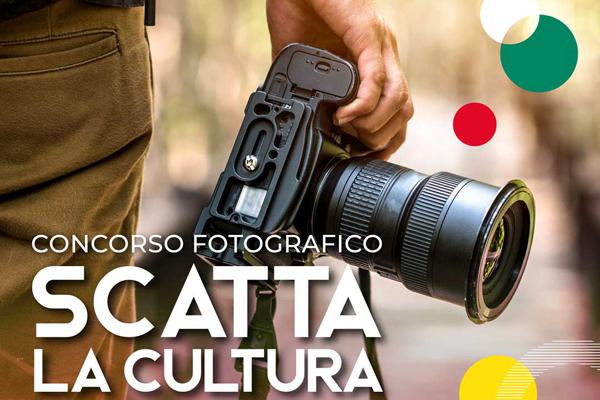 Concorso fotografico Scatta la cultura (particolare locandina)