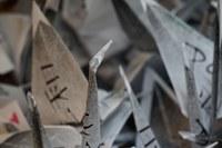 Gru della pace a Marzabotto, origami