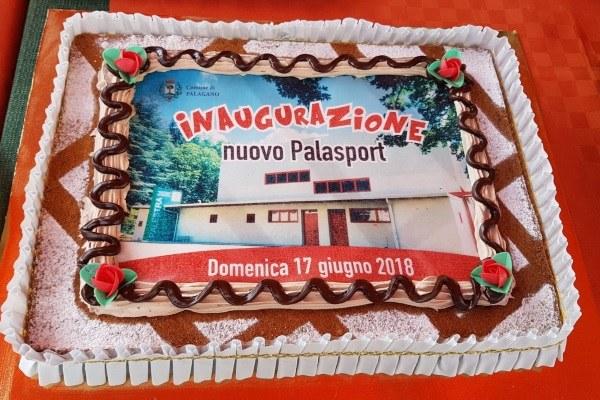 Inaugurazione Palazzetto sport Palagano Bonaccini 17 giugno 2018 tris