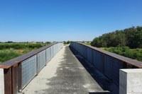 Vista ponte ciclopedonale a Villanova d'Arda PC