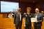 Bonaccini premia uno studente del Team Unimore