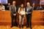 Bonaccini premia una studentessa del Team Unimore