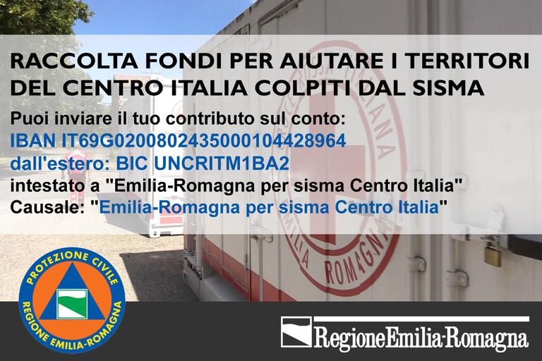 Raccolta fondi per sisma Italia centrale agosto 2016
