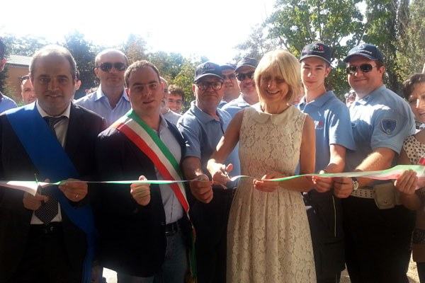 Ricostruzione. Inaugurazione a Reggiolo (Re) di un condominio (27 agosto 2016)