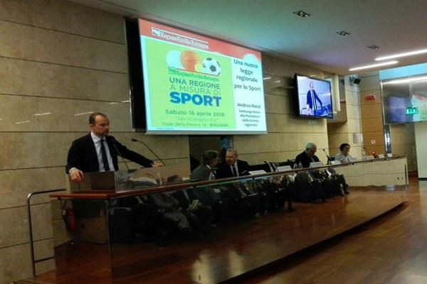 Rossi a convegno Una regione a misura di Sport