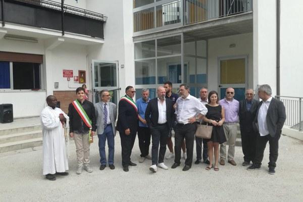 Bonaccini inaugura scuole Polinago (Mo) settembre 2018