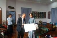 Sergio Venturi e  Aung San Suu Kyi