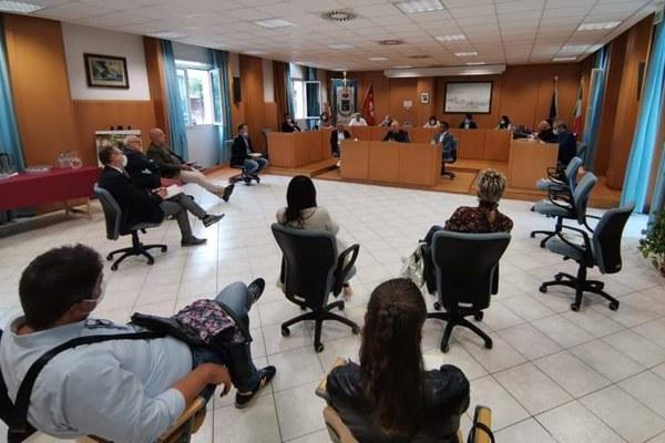Incontro sindaci Valconca Giunta a Rimini (luglio 2020)