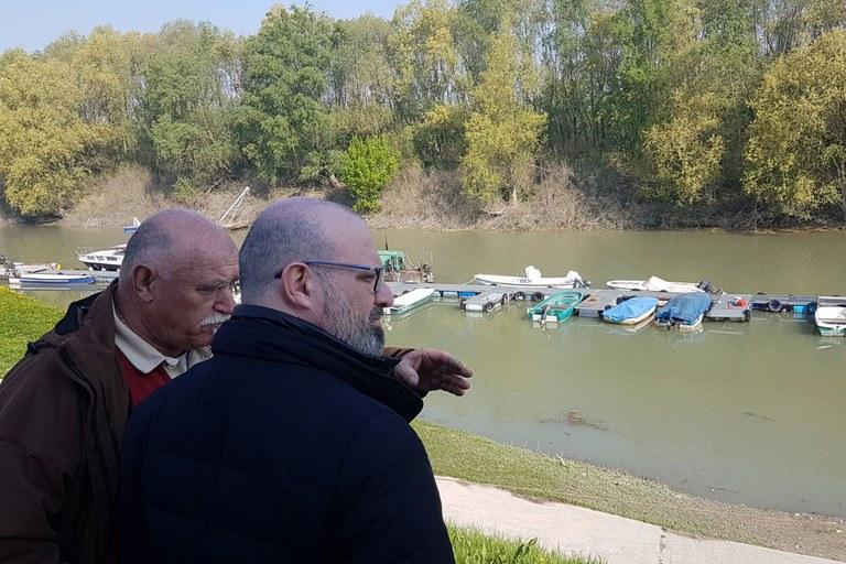 Sopralluogo del presidente Bonaccini in località Gramignazzo, Parma (3 aprile 2017)
