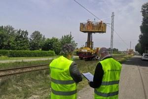 Sopralluogo Bonaccini e Corsini a Reggio cantieri ferroviari maggio 2020