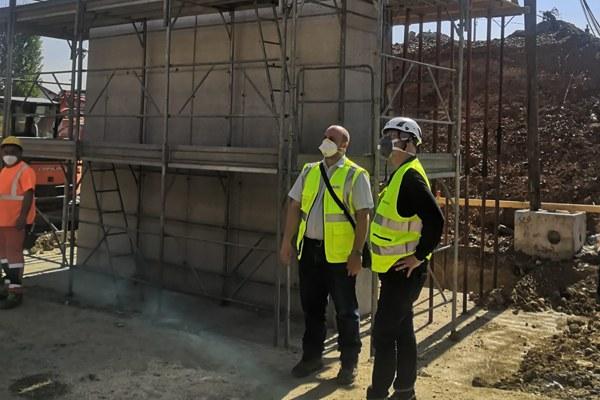 Sopralluogo Bonaccini e Corsini a Reggio cantieri ferroviari maggio 2020 - 2