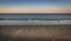 Riviera spiaggia al tramonto