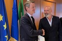 Bonaccini e Couet incontro delegazione urbanisti francesi ottobre 2019