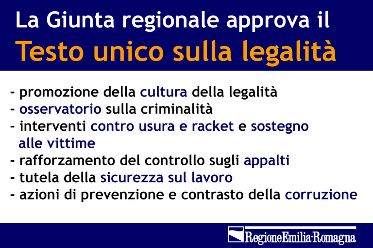 Testo unico legalità slide
