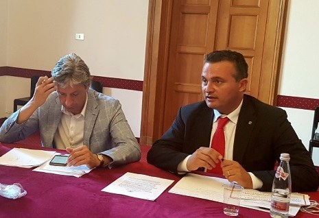 Trc Rimini conferenza stampa Donini Gnassi (12/7/2017)